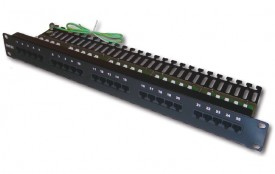 DINTEK Patch Panel Cat.3 Telephone 1 U 25P 19inch (P/N: 1402-01001)