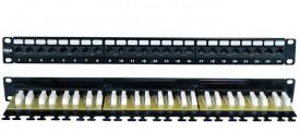 DINTEK Patch Panel Cat.6A UTP 1U 24P 19inch (P/N: 1406-00010)