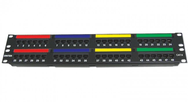 DINTEK Patch Panel Cat.6 UTP 2U 48P 19inch (P/N: 1402-04012)