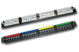 DINTEK Patch Panel Cat.6 UTP 1U 24P 19inch (P/N: 1402-04011)