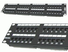 DINTEK Patch Panel Cat.5e UTP 2U 48P 19inch (P/N: 1402-03020)