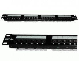 DINTEK Patch Panel Cat.5e UTP 1U 24P 19inch (P/N: 1402-03019)