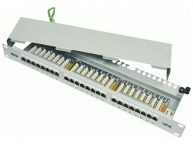 DINTEK Patch Panel Cat.5e FTP 1U 24P 19inch (P/N: 1402-03012)