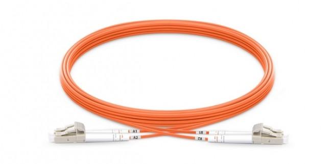 Fiber patch cord Multi-mode, OM2, duplex, LC/LC, 3m (P/N: 2104-07019)
