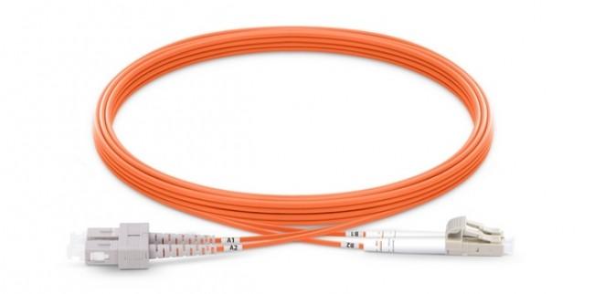 Fiber patch cord Multi-mode, OM2, duplex, LC/SC, 3m (P/N: 2104-15001)