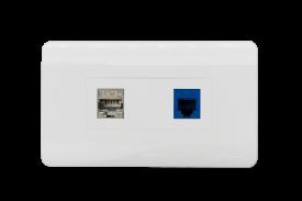 Mặt nạ mạng 2 Port US Style Desinger DINTEK CurvaPlate (P/N: 1303-11031)