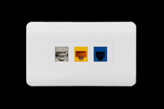 Mặt nạ mạng 3 Port US Style Desinger DINTEK CurvaPlate (P/N: 1303-11039)