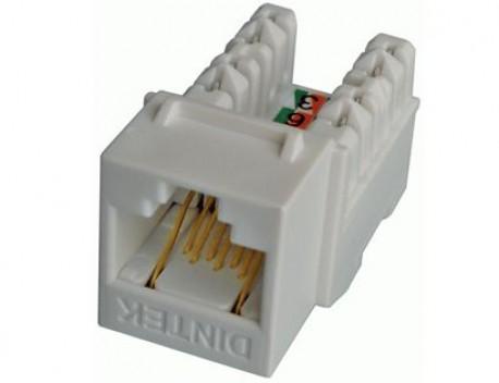 DINTEK Module Jack Cat.6 dạng ngang E-Jack (P/N: 1305-04017 )