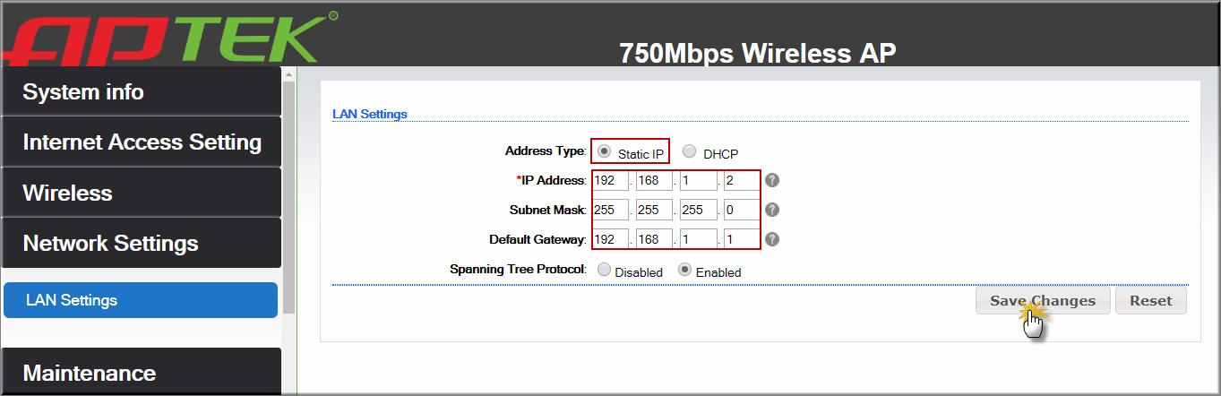 APTEK AC752P Cấu hình nhiều SSID