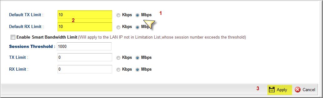 Giới hạn băng thông theo địa chỉ IP   Cân bằng tải - Load Balance