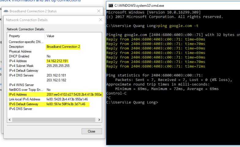Linux - Cấu hình IPv6 (Dual Stack / PPP) | Internet - IPTV