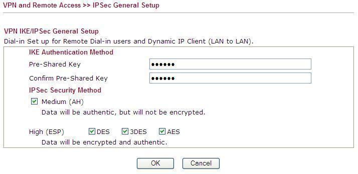 IPSec General Setup