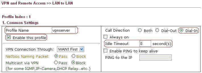 LAN to LAN