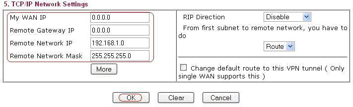 TCP/IP Network Settings