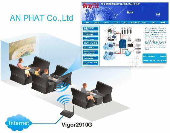 Thiết lập trang quảng cáo khi kết nối Wireless của Vigor2910
