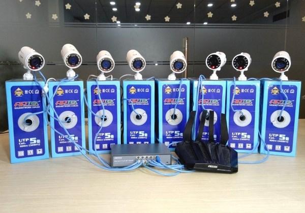 APTEK Switch PoE APTEK SF1082P hoạt động cùng APTEK A134GHU và APTEK Cat5e